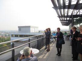 На террасе кафетерия клиники. Вид на город с 10 этажа